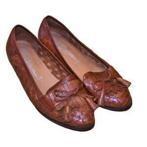 """JEFFREY CAMPBELL Brown Leather """"Edison"""" Flats 9.5"""